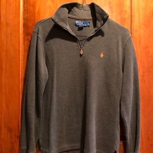Polo quarter zip olive/orange